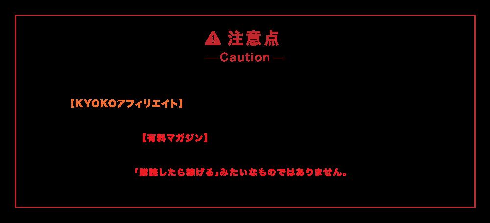 KYOKOアフィリエイトNEXTの注意点